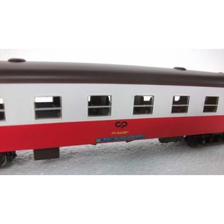 Conjunto 2 Carruagens B600 vermelhas e brancas 2 Classe