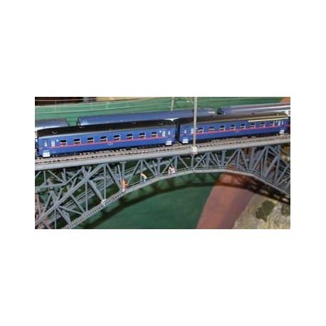 Conjunto 2 carruagens B600 Azuis - Mista 1/2 e 2