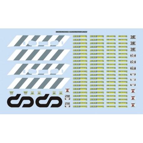 Decalques para locomotiva 2600 CP